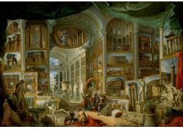 Slavné obrazy X-487 Giovanni Paolo Panini - Starověký Řím