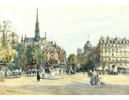 VANG231 John Fulleylove - Náměstí St. Michael, Paříž