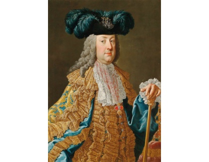Krásné obrazy II-402 Martin van Meytens - Portrét císaře Františka I Štěpána