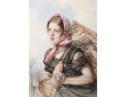VN-290 Guido Bach - Portrét mladé rolnické dívky
