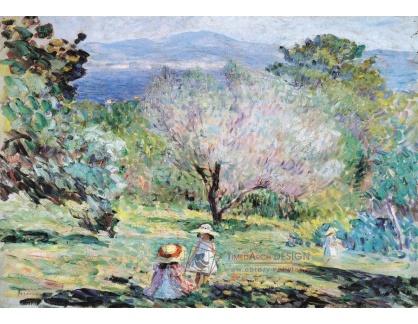 VF186 Henri Lebasque - Dívka ve středomořské krajině