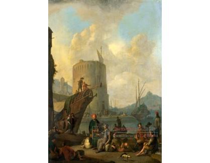 VH749 Johannes Lingelbach - Italský přístav