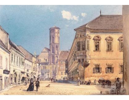 VALT 90 Rudolf von Alt - Farní kostel v Budapešti