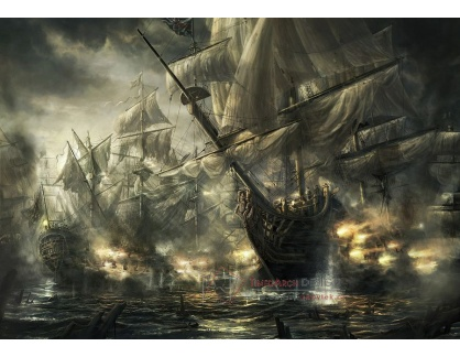 VL180 Neznámý autor - Bitva u Trafalgaru