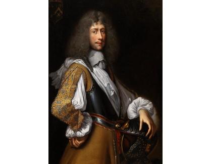 Slavné obrazy I-DDSO-234 John Michael Wright - Portrét šlechtice v brnění