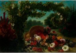 DDSO-2145 Eugene Delacroix - Košík květin