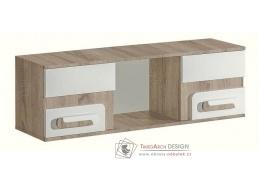 APETTITA 10, závěsná skříňka, dub jasný / bílá