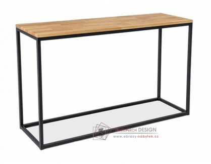 LORAS K, konzolový stolek, černá / dub