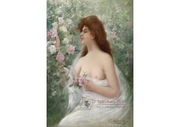 Slavné obrazy X  114 Alfred Glendening - Mladá žena s růžemi