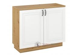 FEDERICO, komoda 2-dveřová 2D, dub artisan / bílá