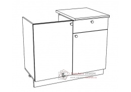 EKO, dolní skříňka 2-dveřová se zásuvkou pod dřez 120DZ1S, bílá