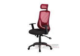 KA-A186 RED, kancelářská židle, látka mesh černá + červená