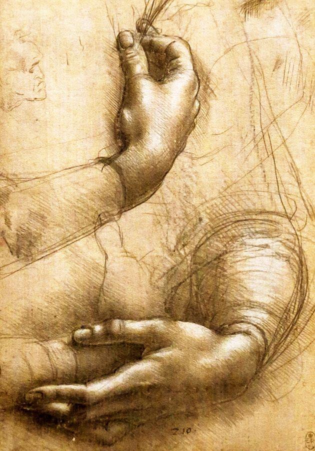 R1-194 Leonardo da Vinci - Studie dlaní