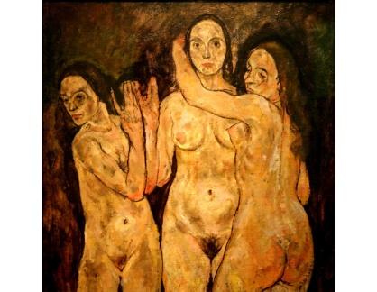 VES 288 Egon Schiele - Tři stojící ženy