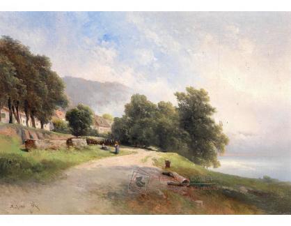 VRAK-14 Carl Franz Emanuel Haunold - Stromy v zahradách na předměstí Pasova