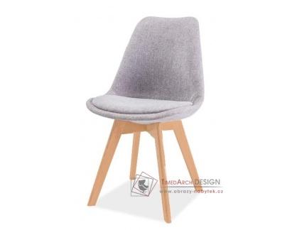 DIOR, jídelní židle, buk / látka světle šedá