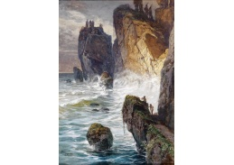 VRAK-115 Georg Janny - Mytologický motiv s Fauny na skalnatém pobřeží