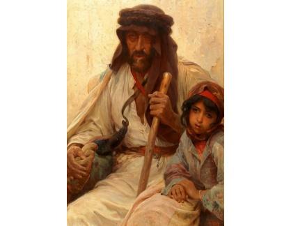 Slavné obrazy I-DDSO-24 Alois Hans Schram - Beduín a mladá dívka