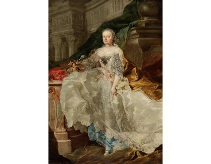 Slavné obrazy I-DDSO-120 Franz Anton Palko - Portrét císařovny Marie Terezie