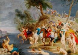 DDSO-1835 Peter Paul Rubens - Cloelia na útěku z tábora Porsena
