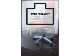 PC podložka pod židli s nopy, 130x120 cm, tvar U, čirá