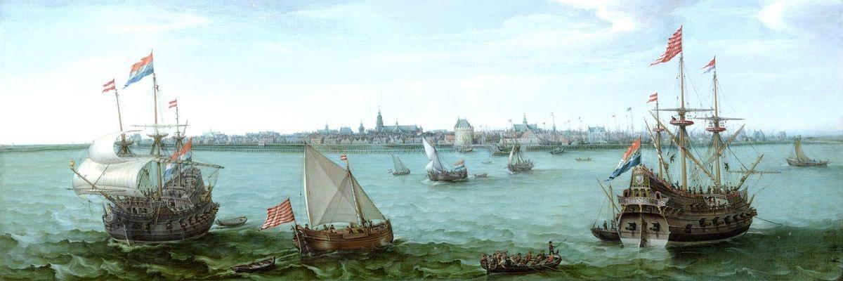 VL97 Hendrik Corneliszoon Vroom - Pohled na Hoorn v Holandsku
