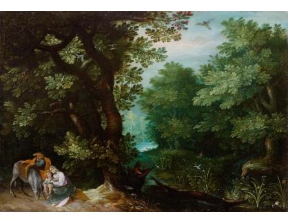 Slavné obrazy IX DDSO-739 Jan Brueghel - Odpočinek na útěku do Egypta