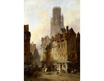 Slavné obrazy XVII-108 Francois Antoine Bossuet - Motiv z Roubaix
