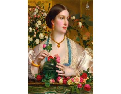 Slavné obrazy XVII-171 Frederick Sandys - Grace Rose