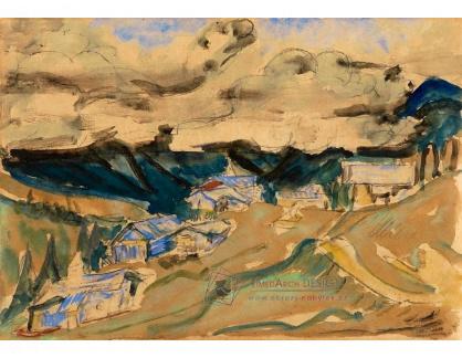 VELK 13 Ernst Ludwig Kirchner - Alpská krajina v okolí Davosu