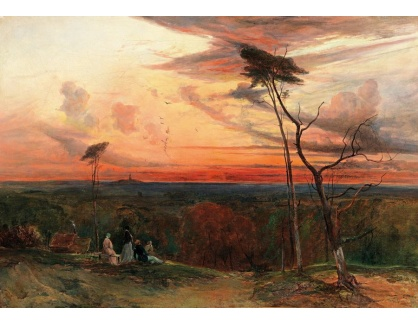 Slavné obrazy IX DDSO-961 Neznámý autor - Volná krajina ve večerním světle