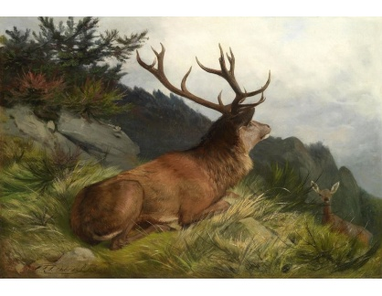 Slavné obrazy VIII-50 Carl Friedrich Deiker - Jeleni místo