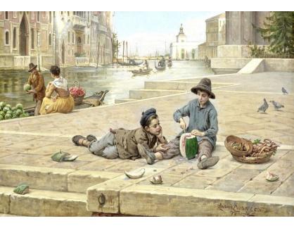 Slavné obrazy XVI-236 Antonio Ermolao Paoletti - Prodejci melounů