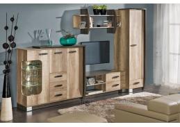 ROMERO SET1, obývací sestava nábytku, arusha / dub canyon