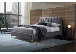 RACHEL, čalouněná postel 180x200cm, látka šedá