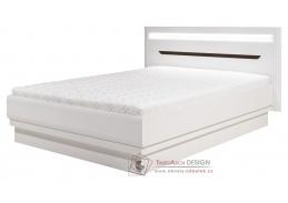 IRMA, postel 140x200cm IM16/140 bílá / vysoký lesk bílý