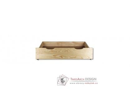 KL-150, zásuvka pod postel, borovicový masiv