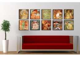 Obrazový set 10D Alfons Mucha
