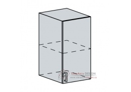 ANASTASIA, horní skříňka 1-dveřová 40H, bílá / ořech