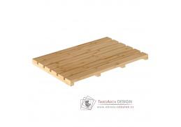 KLERA, protiskluzová předložka do koupelny, přírodní lakovaný bambus