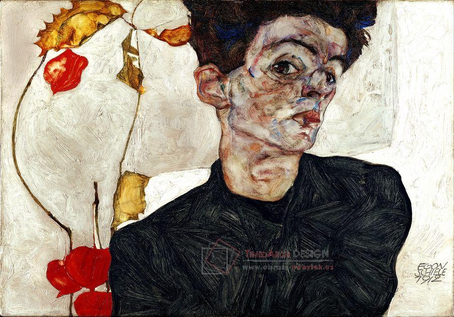 VES 245 Egon Schiele - Autoportrét