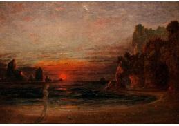 Slavné obrazy III-2 Francis Danby - Studie pro jeskyně Calypso