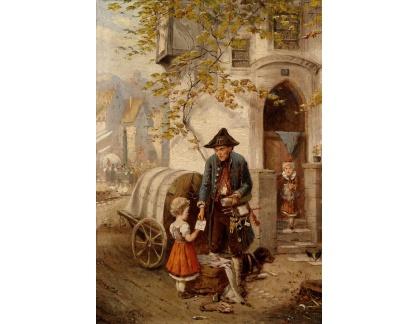 Slavné obrazy XVII-192 Fritz Beinke - Prodejce hraček