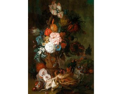 Krásné obrazy II-379 Maria Gertrud Metz - Zátiší s květinami a ovocem