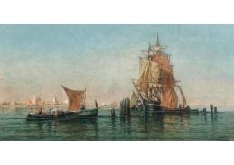 D-6569 Jules Vernier - Obchodní lodě v zátoce Benátek