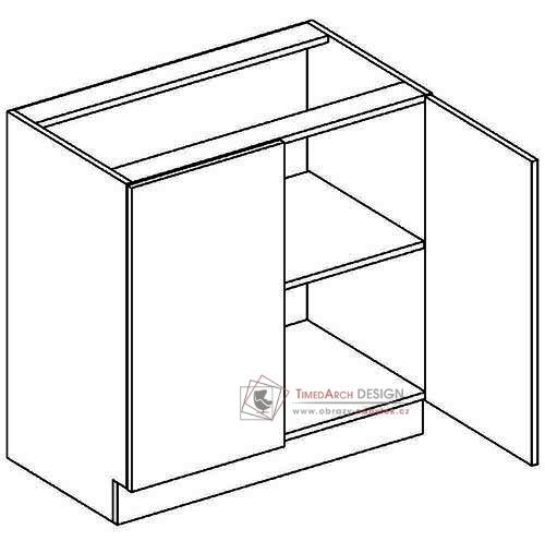 Dolní skříňka dvoudvéřová D80 NORA de LUX hruška