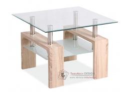 Konferenční stolek LISA D dub sonoma / sklo