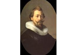 R4-100 Rembrandt - Portrét muže s límcem