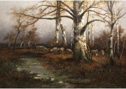 VCM 131 Adolf Kaufmann - Podzimní krajina s pasoucími se ovcemi