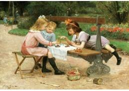Slavné obrazy IX 81 Victor Gabriel Gilbert - Děti v parku